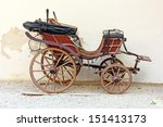 Old Wooden Carriage In Front O...