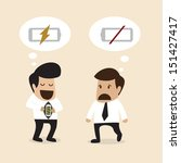 senior adviser give an idea to... | Shutterstock .eps vector #151427417