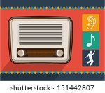 vector old radio | Shutterstock .eps vector #151442807
