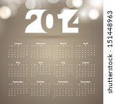calendar 2014  vector... | Shutterstock .eps vector #151448963