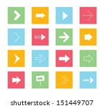 vector arrows icons set 1  | Shutterstock .eps vector #151449707