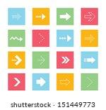 vector arrows icons set 2