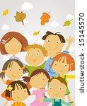 group of happy kids  scholers...   Shutterstock .eps vector #15145570