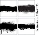 set of grunge backgrounds | Shutterstock .eps vector #151466273