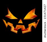 scary carved jack o lantern... | Shutterstock . vector #151471427