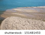 Small photo of alluvion of gravel on the Danube river - behind the Cunovo dam
