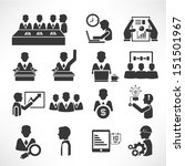 office management icons set ... | Shutterstock .eps vector #151501967