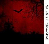 detailed red grunge halloween... | Shutterstock . vector #151502447