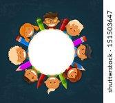 vector illustration of happy... | Shutterstock .eps vector #151503647