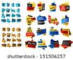 web banners and stickers in... | Shutterstock .eps vector #151506257
