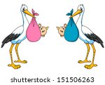 stork with boy and girl for... | Shutterstock .eps vector #151506263