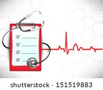medical background with... | Shutterstock .eps vector #151519883