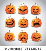 halloween jack o lanterns. eps... | Shutterstock .eps vector #151528763