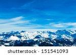 Alps Mountain Landscape. Winte...