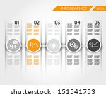orange timeline with business... | Shutterstock .eps vector #151541753