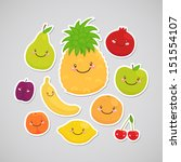 apple,background,banana,cartoon,character,cherry,children,collection,color,colorful,cute,education,food,fruit,fun