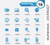 marketing icons blue version... | Shutterstock .eps vector #151556327