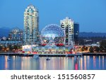 Stock photo vancouver at night 151560857