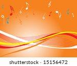 orange wallpaper of musical...   Shutterstock .eps vector #15156472