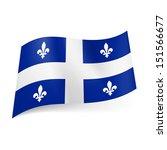 flag of quebec  province of... | Shutterstock .eps vector #151566677