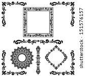 set of calligraphic elements... | Shutterstock .eps vector #151576157