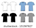 unisex vneck shirt vector... | Shutterstock .eps vector #151587827