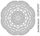 circle lace ornament  round...   Shutterstock .eps vector #151591937