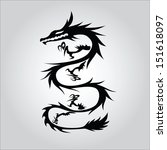 vector version. isolated tattoo ... | Shutterstock .eps vector #151618097