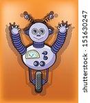 cartoon robot   vector | Shutterstock .eps vector #151630247