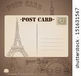 vintage postcard designs.