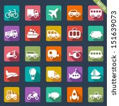 transport icons  | Shutterstock .eps vector #151639073