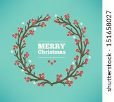 christmas greeting card | Shutterstock .eps vector #151658027