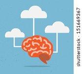 brain vector for education. | Shutterstock .eps vector #151669367