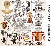 vector set of luxury royal... | Shutterstock .eps vector #151669913
