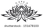large lotus flower in tattoo... | Shutterstock .eps vector #151678103