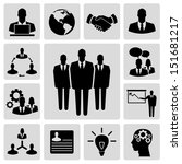 business vector icon set | Shutterstock .eps vector #151681217
