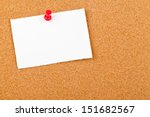 Blank White Paper Note With Re...