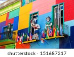 a colorful building in la boca... | Shutterstock . vector #151687217