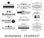 Restaurant Labels Set  ...