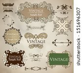 vector set of calligraphic... | Shutterstock .eps vector #151696307