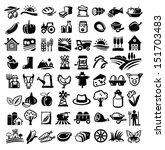 vector black farm icon set on...   Shutterstock .eps vector #151703483