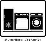 black household appliances icon ...