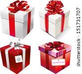 gift boxes set | Shutterstock .eps vector #151731707