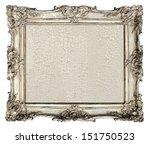 old silver frame. empty grunge... | Shutterstock . vector #151750523