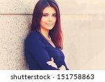 portrait of a confident happy...   Shutterstock . vector #151758863