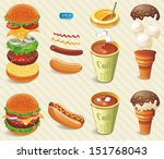 vector fast food. information...   Shutterstock .eps vector #151768043