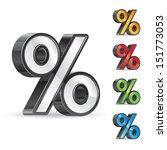 percent sign | Shutterstock .eps vector #151773053