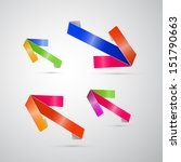 colorful vector arrows set... | Shutterstock .eps vector #151790663