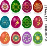 easter eggs | Shutterstock .eps vector #151799687