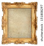 old golden frame with empty... | Shutterstock . vector #151808297